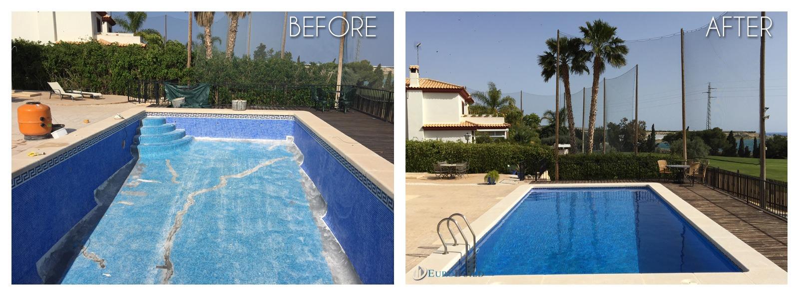 Swimming pool repair in Bonalba