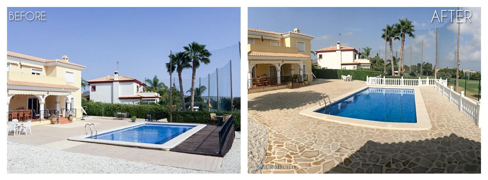 Swimming pool, terrace, renovation